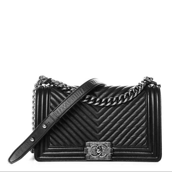 2a9cdb5f96e87d CHANEL Bags | Old Medium Boy Chevron Flap Bag | Poshmark